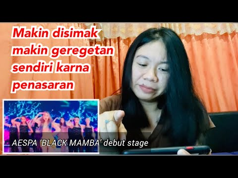 AESPA 'BLACK MAMBA' The Debut Stage  REACTION