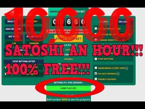 How To Make 100,000 BTC Satoshi In 10 Minutes - Online Gambling With Bitcoin!