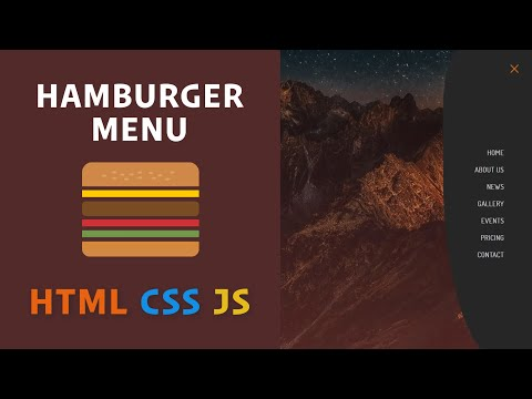 Hamburger Menu With HTML, CSS, And JavaScript / Cool Hover Effects With ::after And ::before