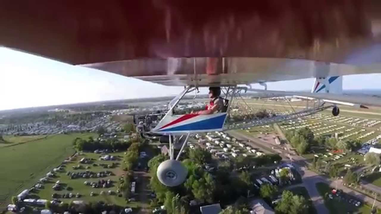 Awesome Backyard Flyer Part - 11: Airventure 2015 Ultralight Pattern In The Backyard Flyer - YouTube