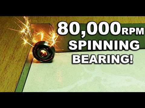 High Speed Bearing Spinning (80,000+ Rpm) !