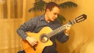 Москва (Монгол Шуудан) на гитаре. Финегерстайл.(Даю уроки игры на гитаре в Москве. tragov.p@mail.ru