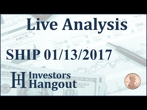 SHIP Stock Live Analysis 01-13-2017