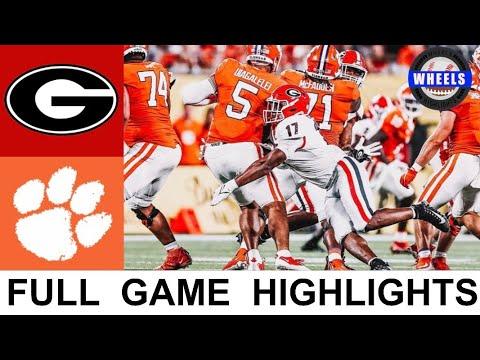 #5 Georgia vs #3 Clemson Highlights | College Football Week 1 | 2021 College Football Highlights