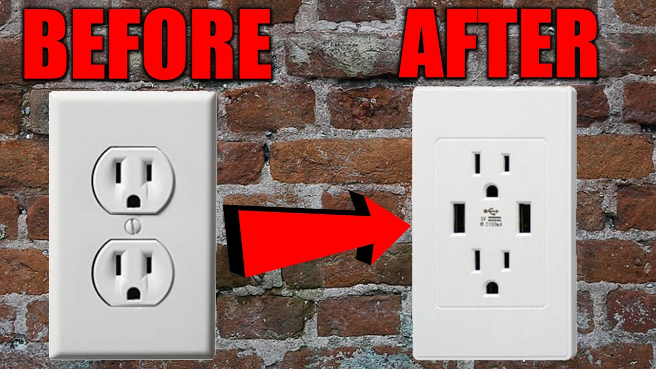 How To Install A  New  Usb Wall Outlet Easy