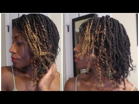 2 Strand Twists/Mini Twists Tutorial On Natural Hair | No Hair Added