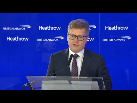 Travel restart - British Airways & Heathrow live stream broadcast