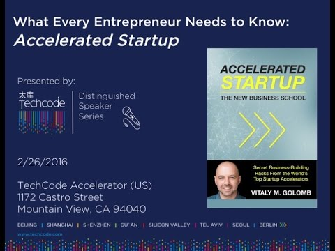 "TechCode Distinguished Speaker Series: ""Accelerated Startup"" by Vitaly M. Golomb 2.26.16"