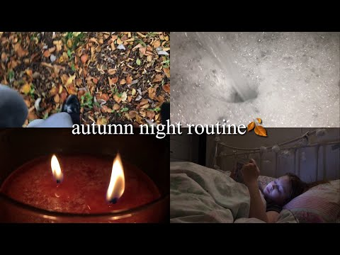 AUTUMN NIGHT ROUTINE🎃🍂 | Basically Megan