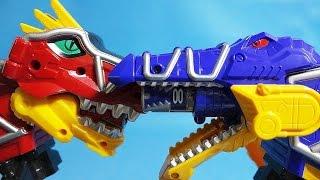 파워레인저 다이노포스 토바스피노 vs 가브티라 또봇 Y 미니 장난감 Power Rangers Dino Charge Tobot Y toys