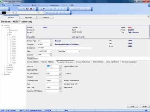 Webinar: CSB (Contract & Service Billing) for Infor SunSystems