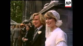 JAMES HUNT MARRIAGE - COLOUR