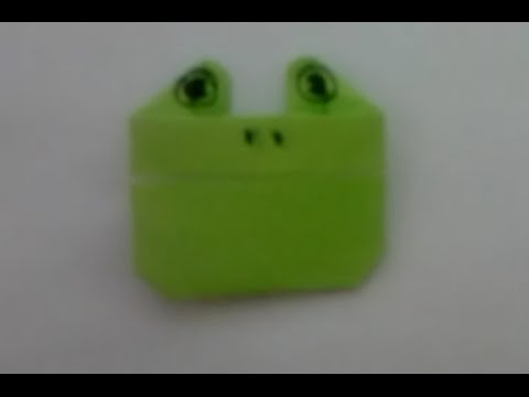 Origami Frog face - YouTube   360x480