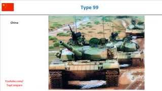 AMX-56 Leclerc or Type 99, Tank Key features comparison