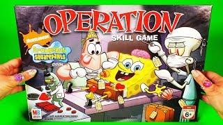 Operation Spongebob Edition funny game, 2007 Hasbro Toys