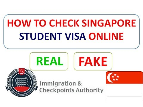 HOW TO CHECK SINGAPORE STUDENT VISA ONLINE IN JUST 1 MINUTE