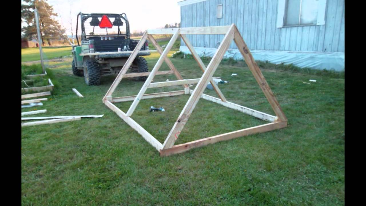 small backyard chicken tractor youtube