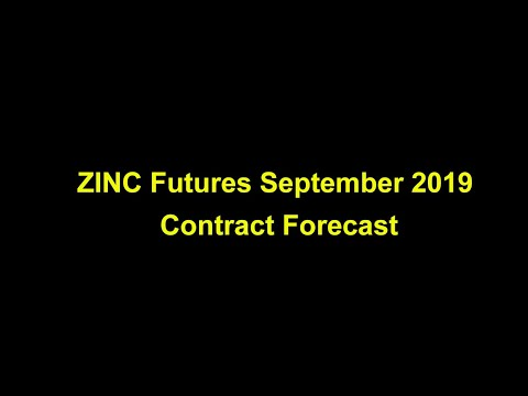 zinc futures September 2019 contract forecast