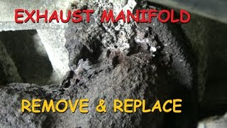 ford f 150 exhaust manifold remove and replace