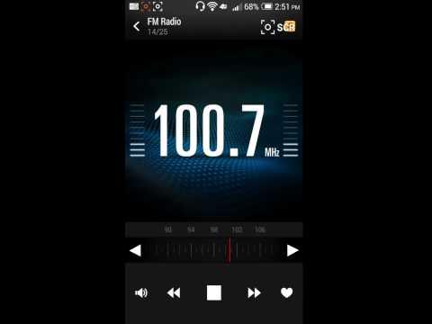 FM Radio On The HTC One