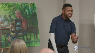 Inky Johnson speaks to Broad River Retail