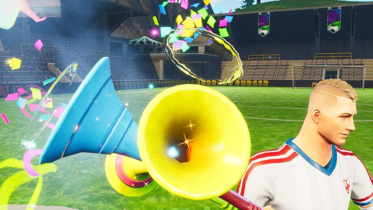 fortnite vuvuzela sound vuvuzela all 3 sounds and confetti - vuvuzela fortnite reactive