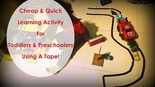 Cheap, Simple & Quick Learning Activity Ideas Using Tape - The K Junction