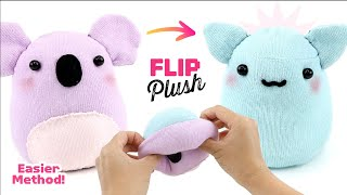 New EASIER Reversible Plushie Method! How to Make a Koala & Cat Plush using Socks