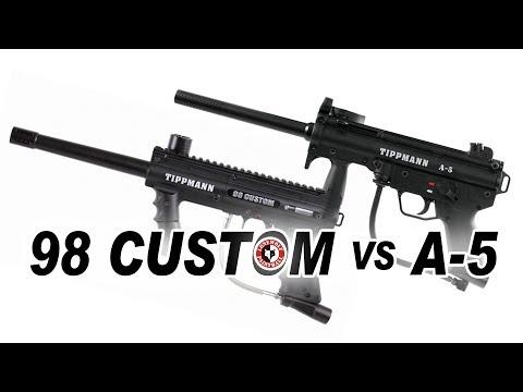 Tippmann 98 Custom Vs Tippmann A-5 Marker Comparison | Lone Wolf Paintball Michigan