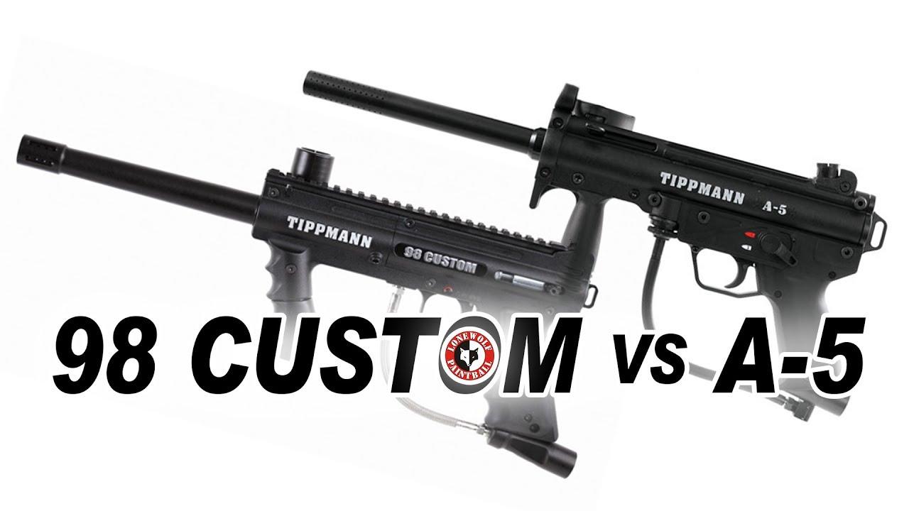 Tippmann 98 Custom Vs A 5 Marker Comparison