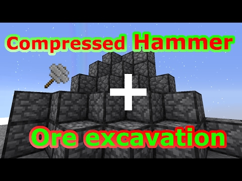 Compressed Stone Hammer mit Ore Excavation| Sky Factory 3