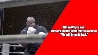 """Public media work out: Dillian Whyte and Anthony Joshua show mutual respect """"We will bring it Back"""""""