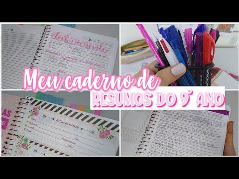 Tour pelo meu caderno de RESUMOS do 9° ano - Ana Study
