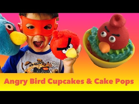 Easy Angry Bird Cupcake Toppers & Cake Pops - Simple Tutorial By FunPlayTV