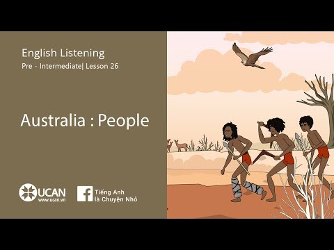 Learn English Via listening | Pre-Intermediate - Lesson 26. Australia : People