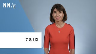 The Magical Number 7 and UX