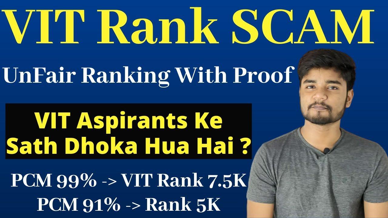 VIT Rank Scam? | VIT 2020 UnFair Ranking With Complete Proof