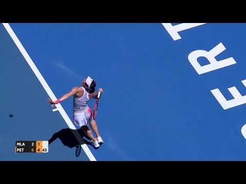 Kristina Mladenovic v Andrea Petkovic highlights (RR) - Mastercard Hopman Cup 2017