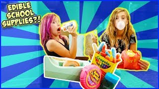 yummy edible school supplies hack sneaking food into class   crazy slime
