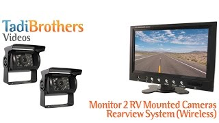 wireless rv backup camera system with 2 cameras and monitor from www tadibrothers com