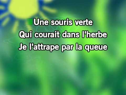 Une souris verte karaoke youtube - Une souris verte singe ...