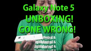 Galaxy Note 5 Unboxing Gone Wrong - Stuck S-Pen!