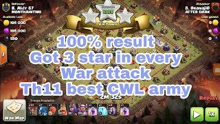 3 star any th11 like a boss (town hall 11) - clash of clans - th11 best war attack strategy - coc