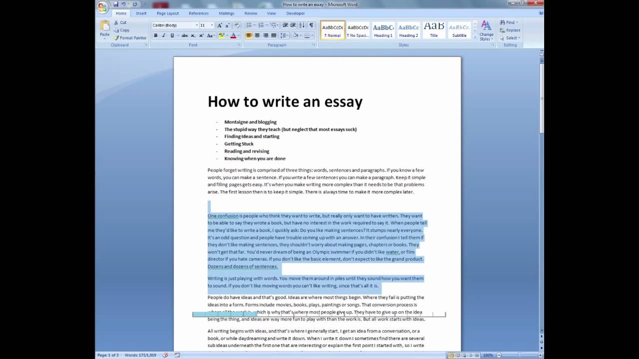 Spanish term essay