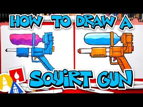 How To Draw A Squirt Gun