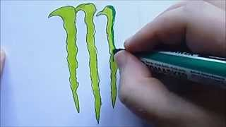 How To Draw Monster Energy Logo