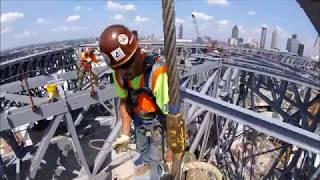 Ironworkers building Atlanta. (gopro)