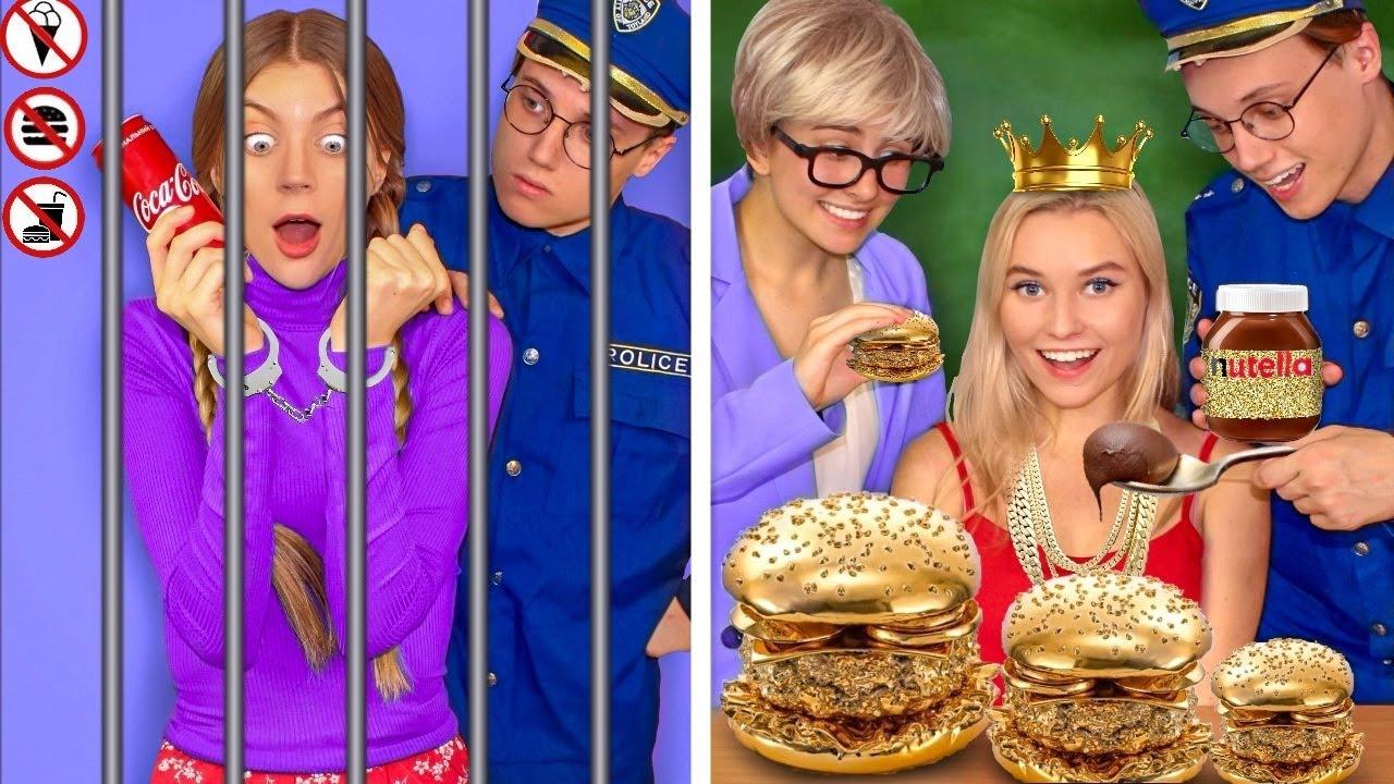 Rich Girl VS Broke Girl! Funny Ways to Sneak Snacks Into College by Mr Degree