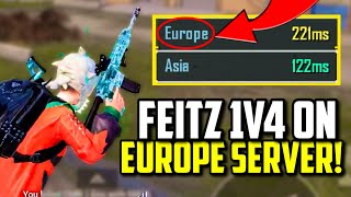 ASIA PLAYER TRIES EUROPE SERVER AND CLUTCHES THIS 1V4!   PUBG Mobile