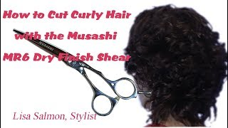 How to cut Curly Hair with a Dry Finish Shear